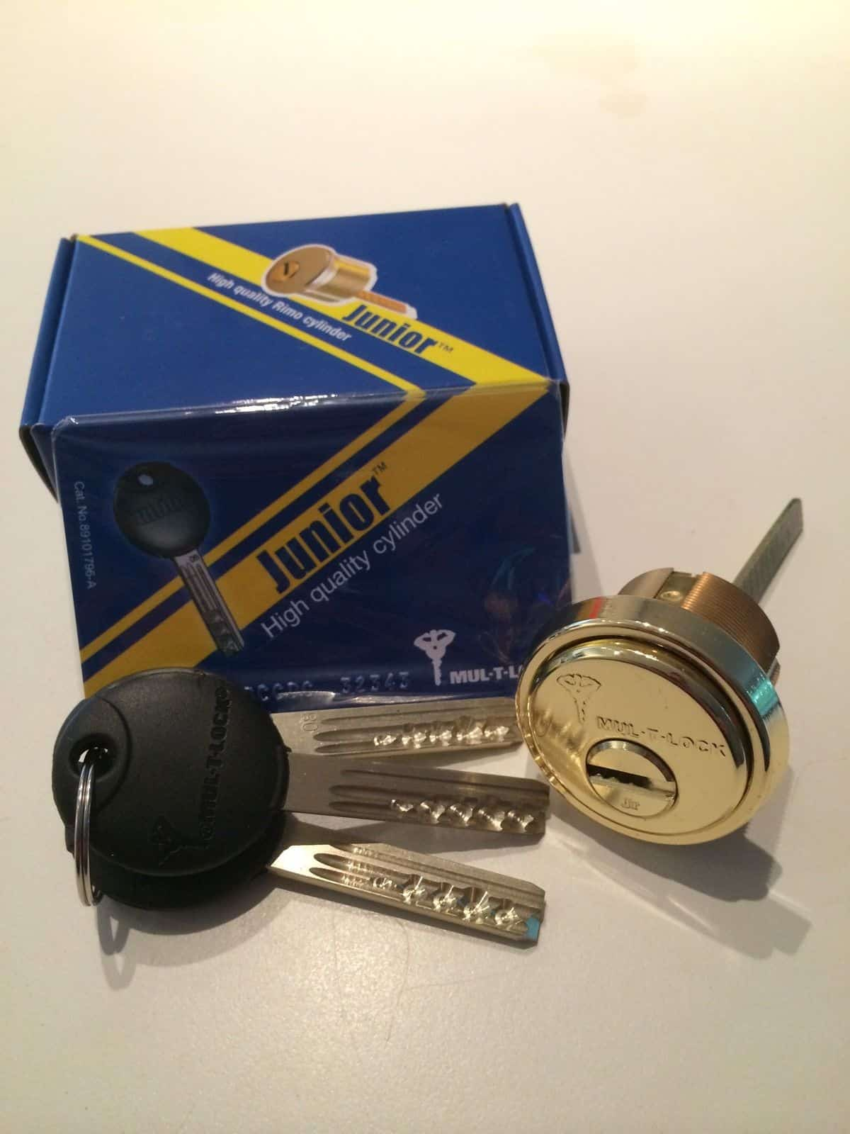 Mul-T-Lock Rim/Mortise solid brass high security cylinder